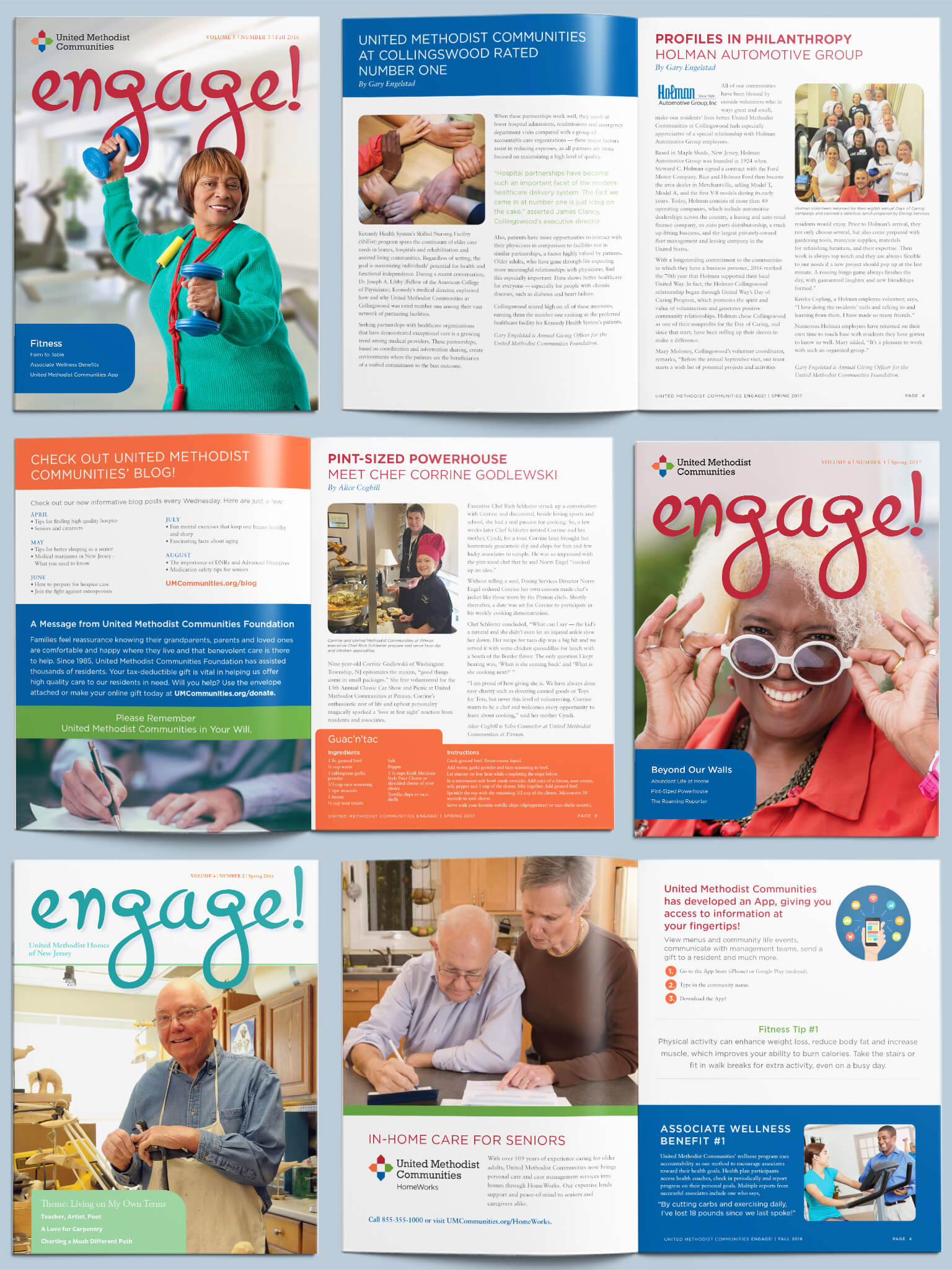 Editorial Design and Advertising for Retirement Communities